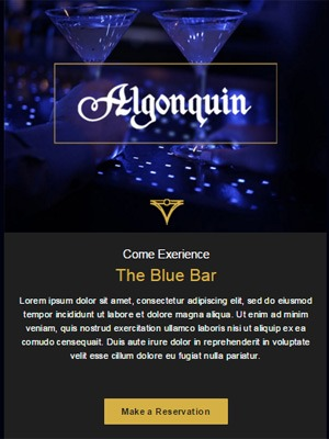 Hotel / Bar E-mail Sample by Chris Carrasco