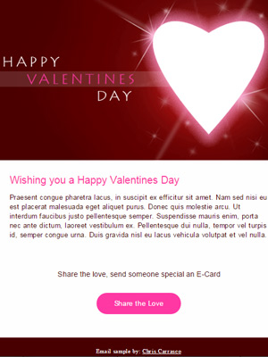 Valentines Day HTML Email Sample by Chris Carrasco